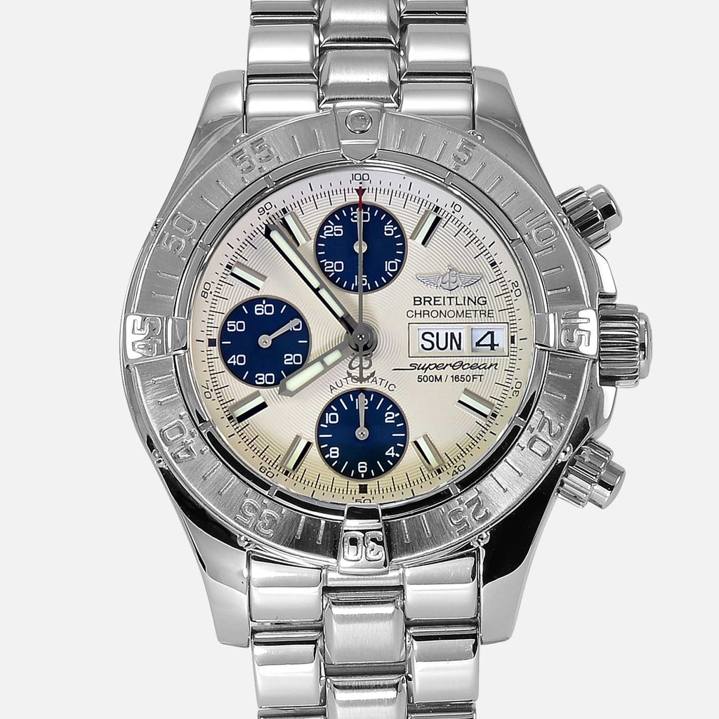 Breitling Superocean Chronograph Silver Dial Divers Watch A13340 - NeoFashionStore