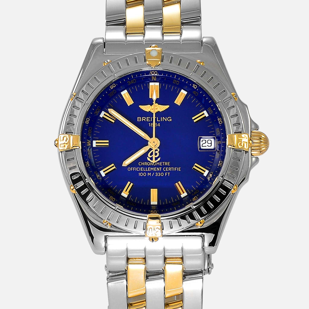 Breitling Wings Automatic Blue Dial Two-Tone 18K Gold & Steel B10350 - NeoFashionStore