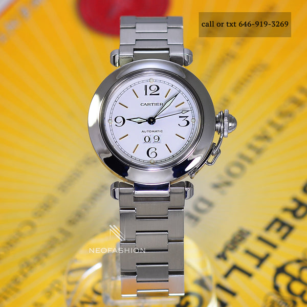 Cartier Pasha C Big Date Automatic 2475 Stainless Steel W31044M7 - NeoFashionStore