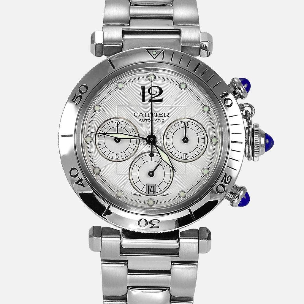 Cartier Pasha Chronograph Automatic Steel Ref 2313 W31030H3 - NeoFashionStore