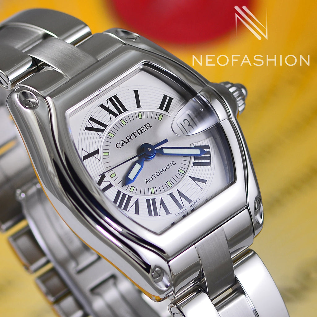 Cartier Roadster Automatic Silver dial 2510 W62002v3 Mens Watch