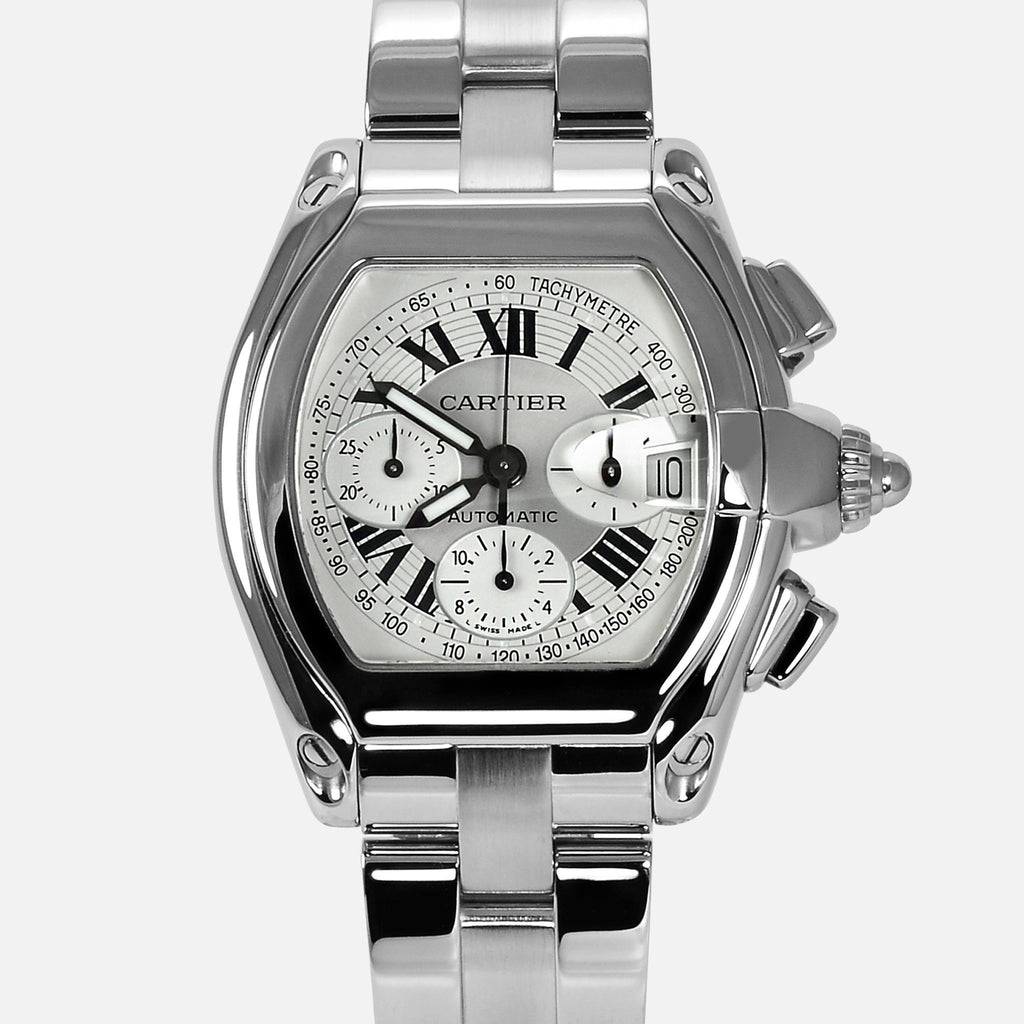 Cartier Roadster Chronograph White Dial 2618 W62006X6 Mens Luxury Watch - NeoFashionStore