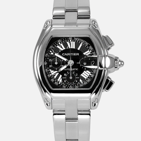 Cartier Roadster Chronograph Black Dial Reference 2618 W62006X6