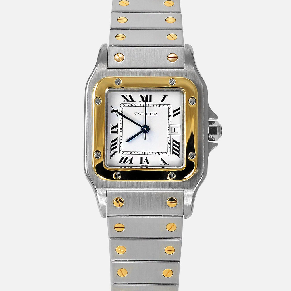 Cartier Santos Galbee Automatic Two Tone 18k Gold Stainless Steel Watch - NeoFashionStore