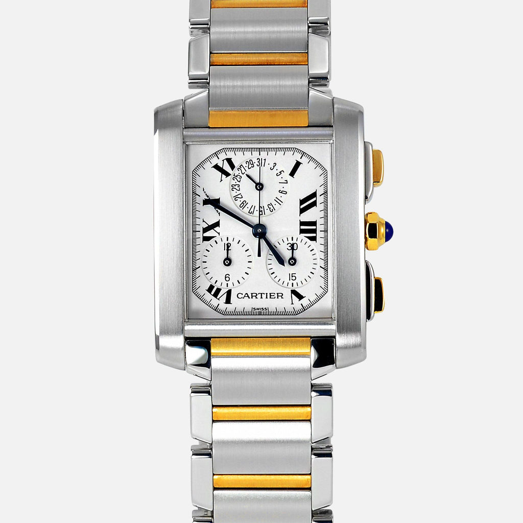 Cartier Tank Francaise Chronograph 18K Gold/SS 2303 W51004Q4 Luxury Watch - NeoFashionStore