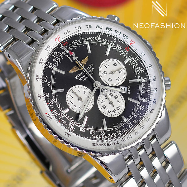 Breitling Navitimer Heritage A35340 Grey Dial 43mm Mens Watch - NeoFashionStore
