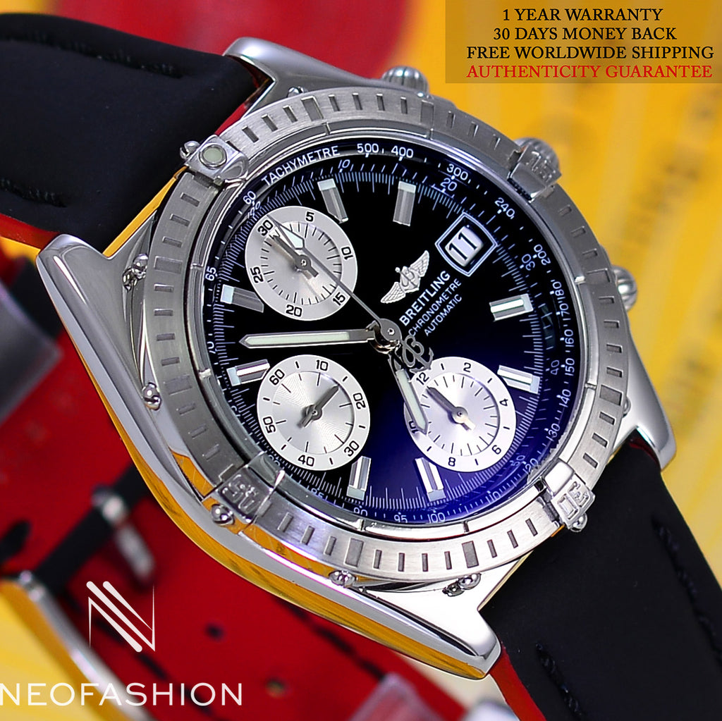 Breitling Chronomat Stainless Steel Black Dial A13352 - NeoFashionStore