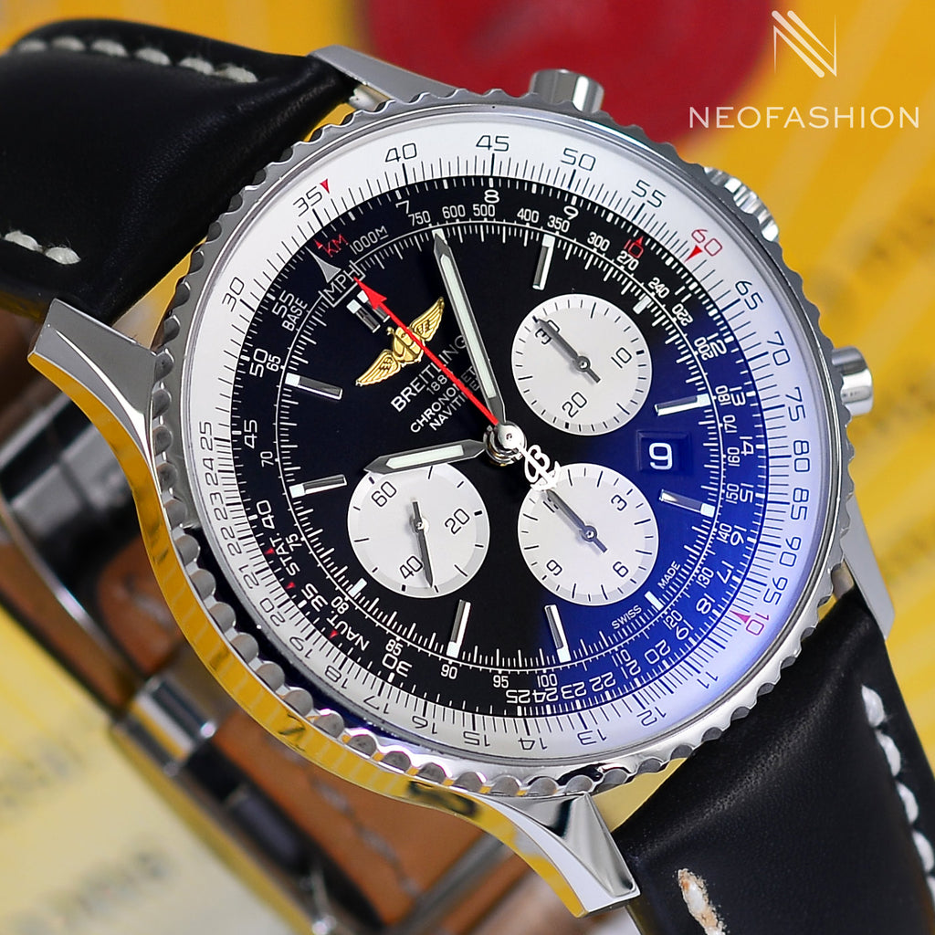 Breitling Navitimer B01 Chronograph 46mm Stainless Steel Mens Watch AB0127 - NeoFashionStore