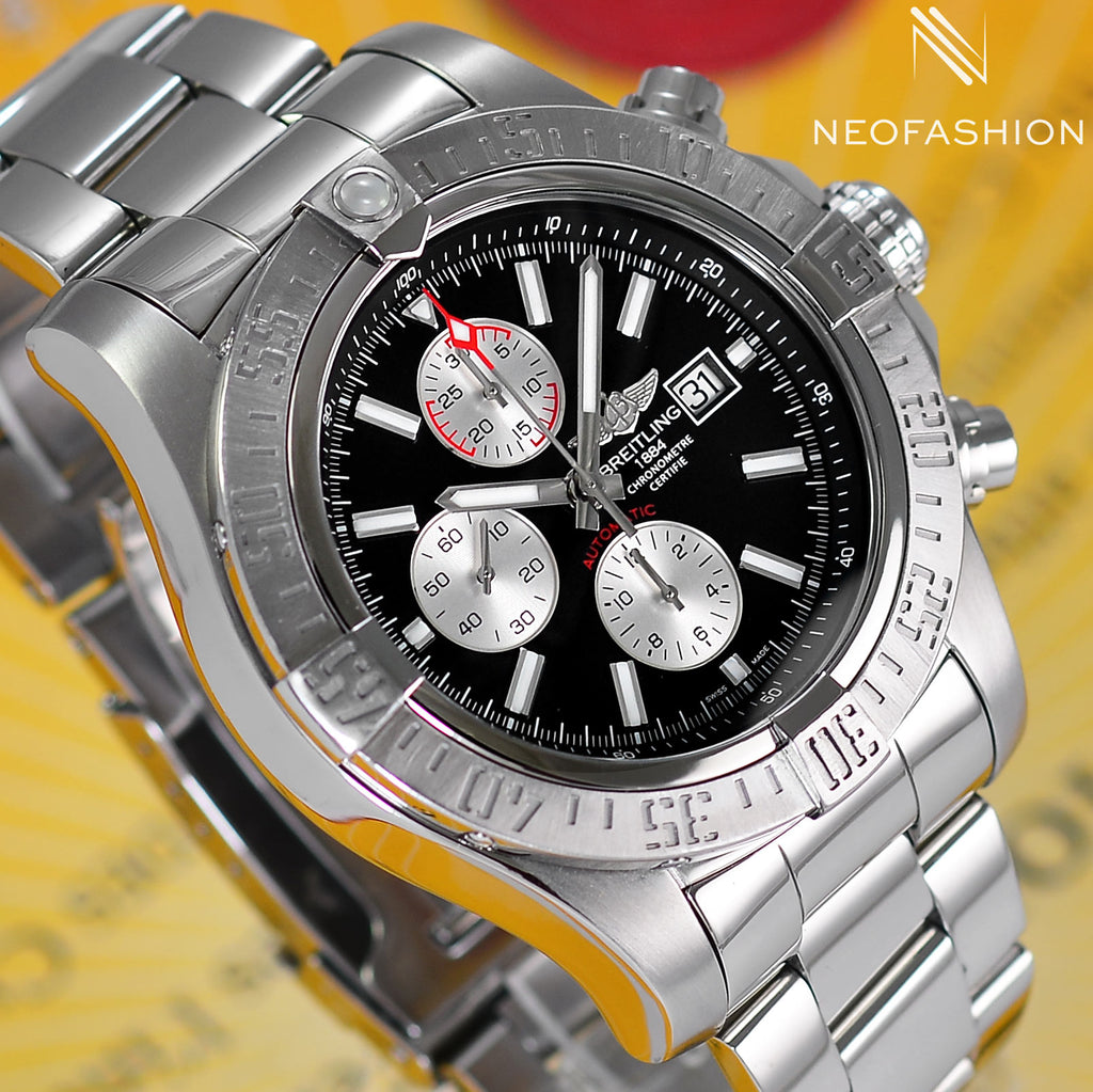 Breitling Super Avenger Pro III Black Dial A13371 - NeoFashionStore