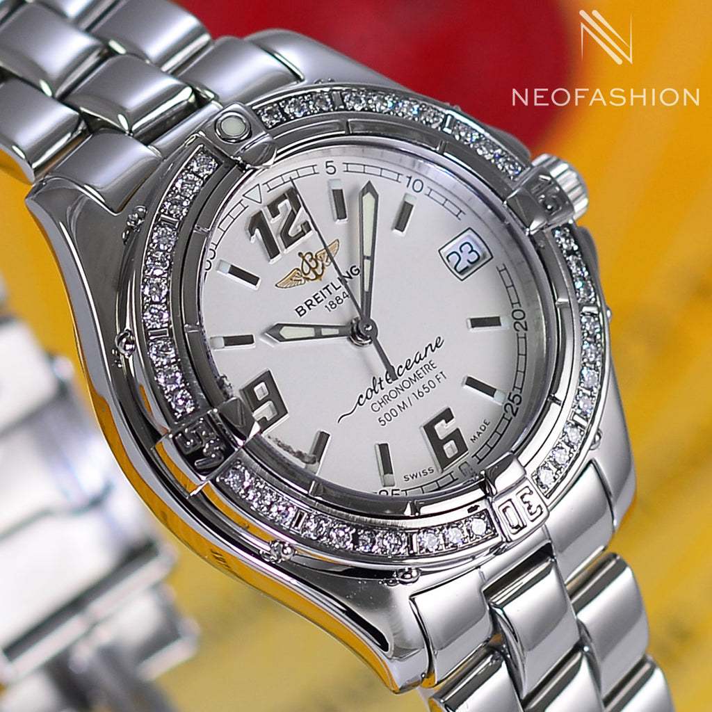 Breitling Colt Oceane Lady Diamond Bezel A57350 - NeoFashionStore