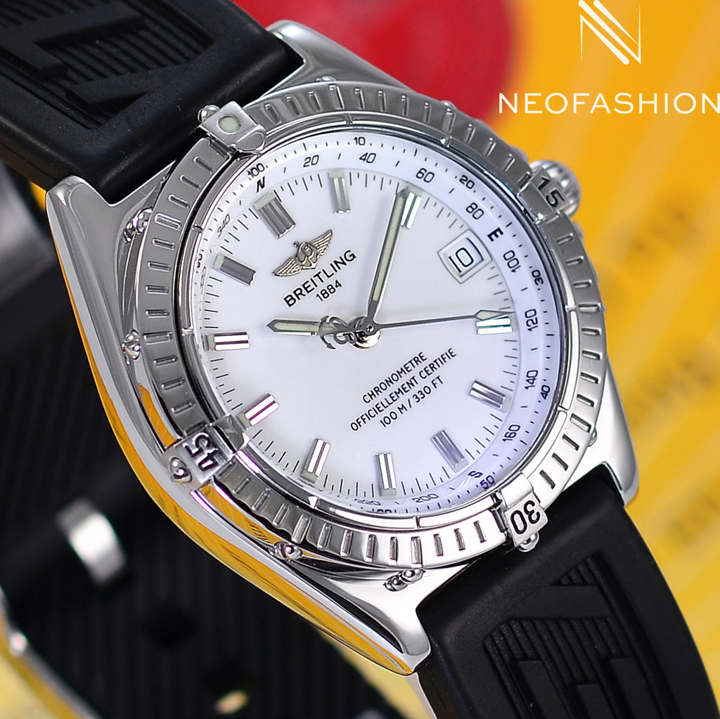 Breitling Wings Automatic Chronometer White Dial A10350 - NeoFashionStore