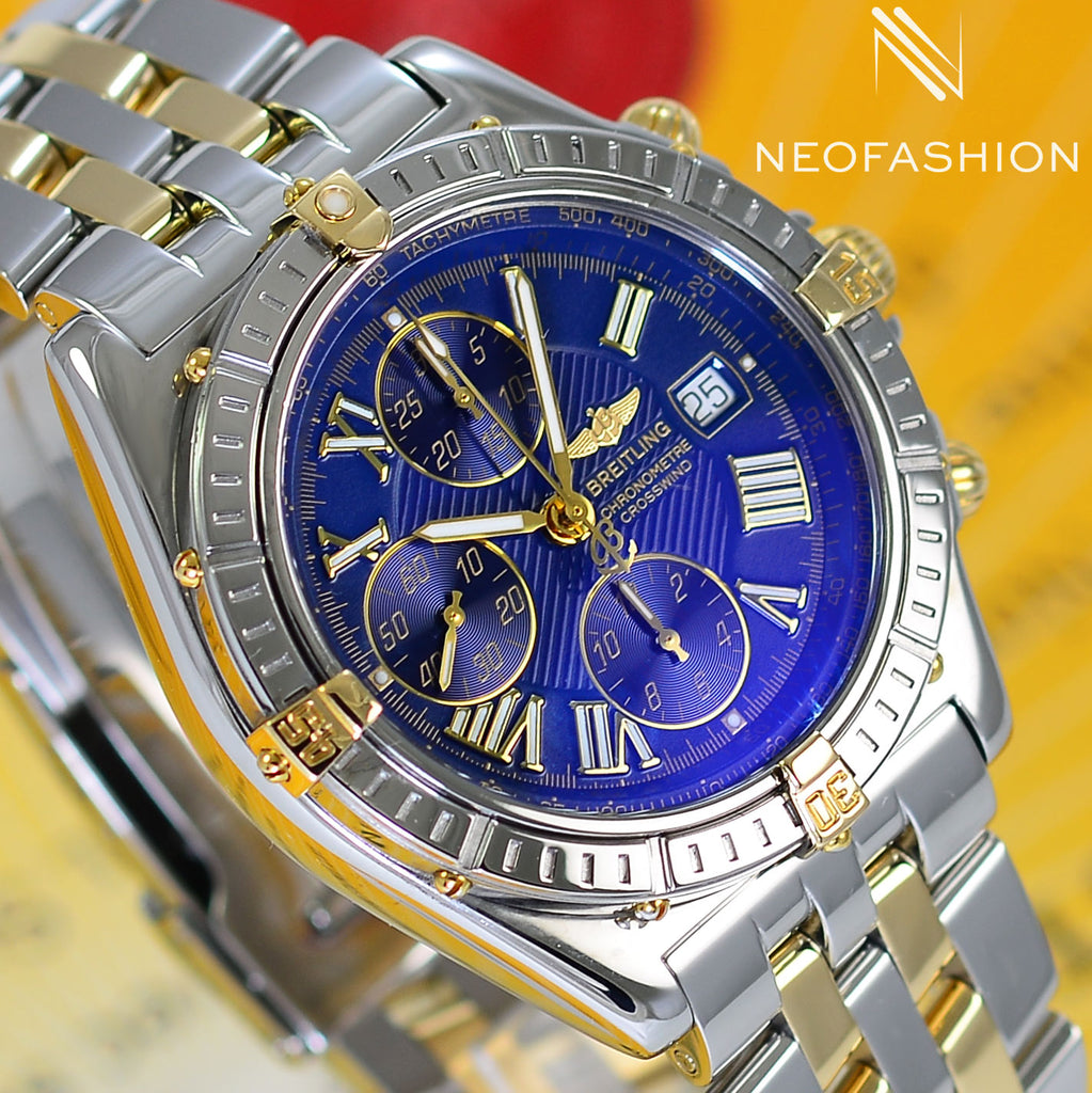 Breitling Crosswind 18K Gold/Stainless Steel Blue Dial B13355 - NeoFashionStore