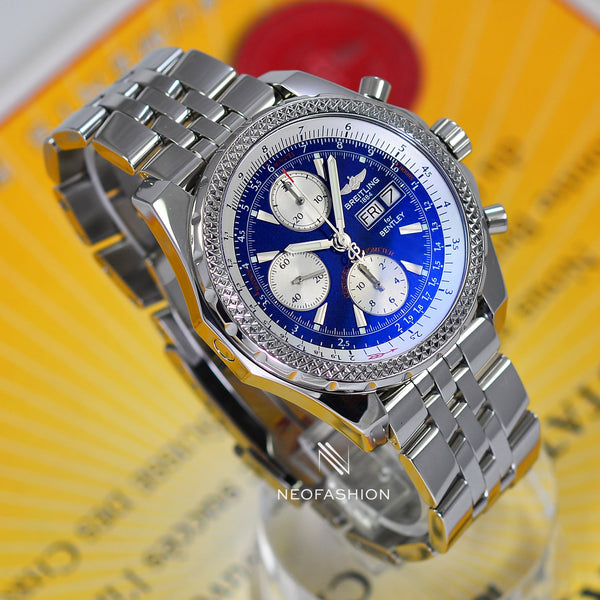 Breitling Bentley GT Continental Blue Dial Mens Watch A13362 - NeoFashionStore