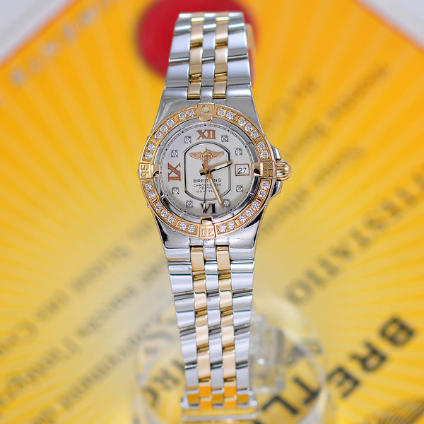Breitling Starliner Ladies Factory Diamonds 18K Rose Gold/Steel C71340 - NeoFashionStore
