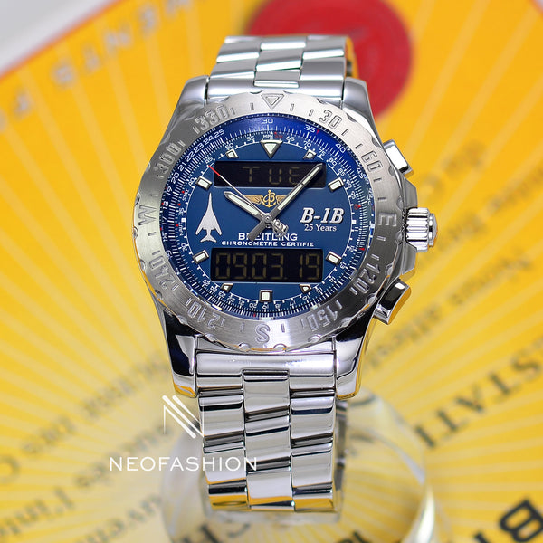 Breitling Airwolf Special B-1B 25th Anniversary Edition Blue A78363 - NeoFashionStore