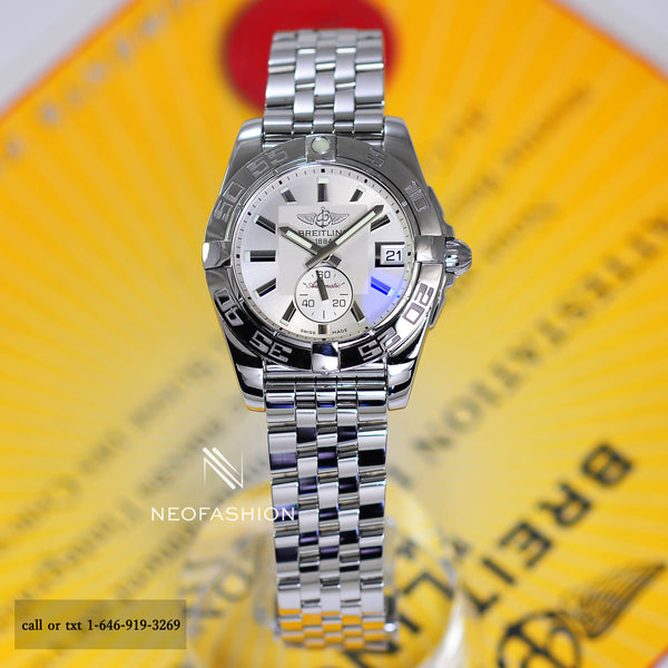 Breitling Galactic Automatic 36 Ladies White Dial Watch A37330 - NeoFashionStore