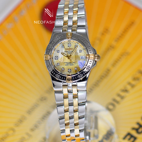 Breitling Starliner Ladies 18K/SS Gold MOP Diamond Dial B71340 - NeoFashionStore