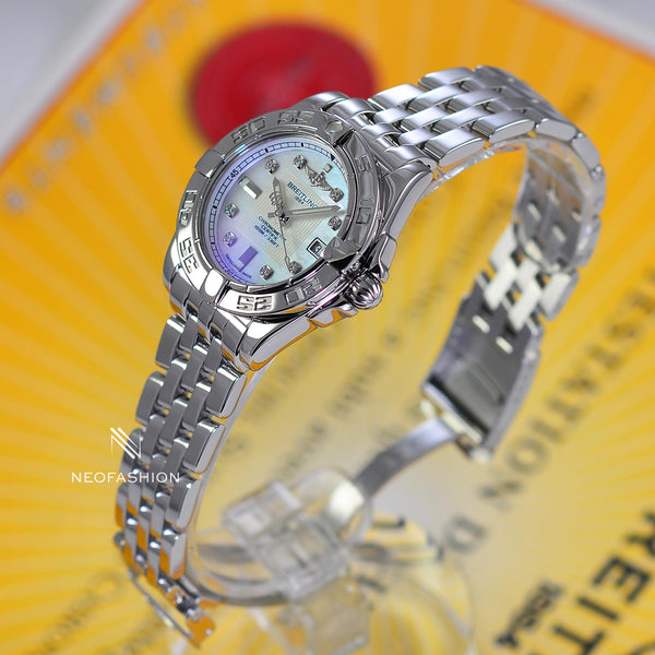 Breitling Galactic Lady 32 Factory Diamond MOP Dial A71356 - NeoFashionStore