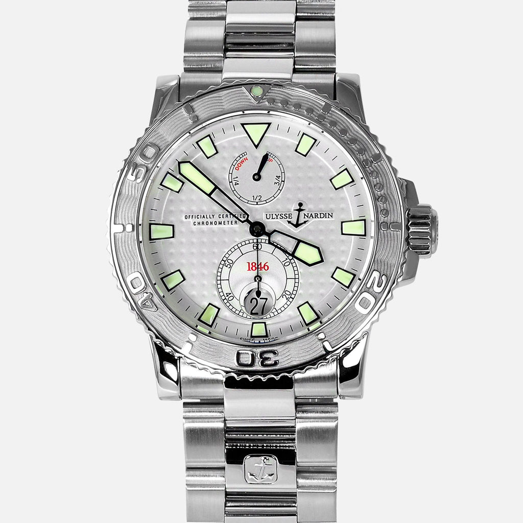 Ulysse Nardin Maxi Marine Diver Stainless Steel 263-33-7/91 Mens Luxury Watch - NeoFashionStore