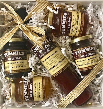 Gift Box with 1 Vinaigrette and 4 Small Jars