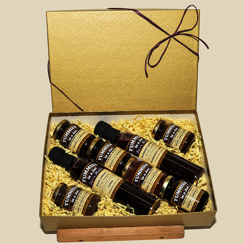 Gift Box with 2 Vinaigrettes and 6 Small Jars of Jams OR 10 small jars (no Vinaigrettes)