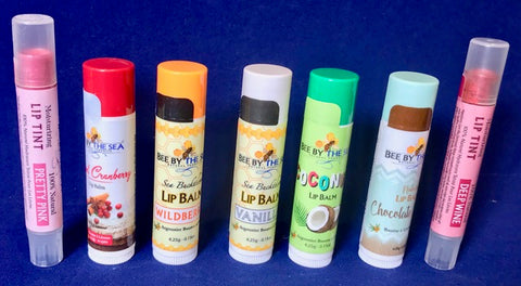 +Bee by the Sea Lip Balms