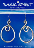 #Pewter - Abstract Earrings