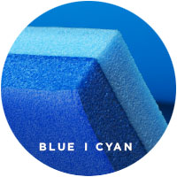FloatDaddy 2Ply Island Foam Lake Mat I Blue & Cyan