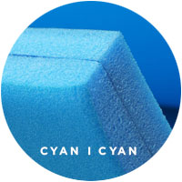 Foam Lake Float | FloatDaddy 2Ply Island Cyan | 16 Feet