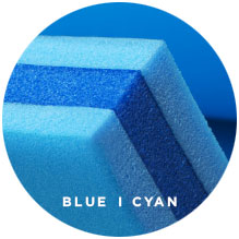 Foam Lake Float | FloatDaddy 3Ply Super Island Cyan Blue | 16 Feet
