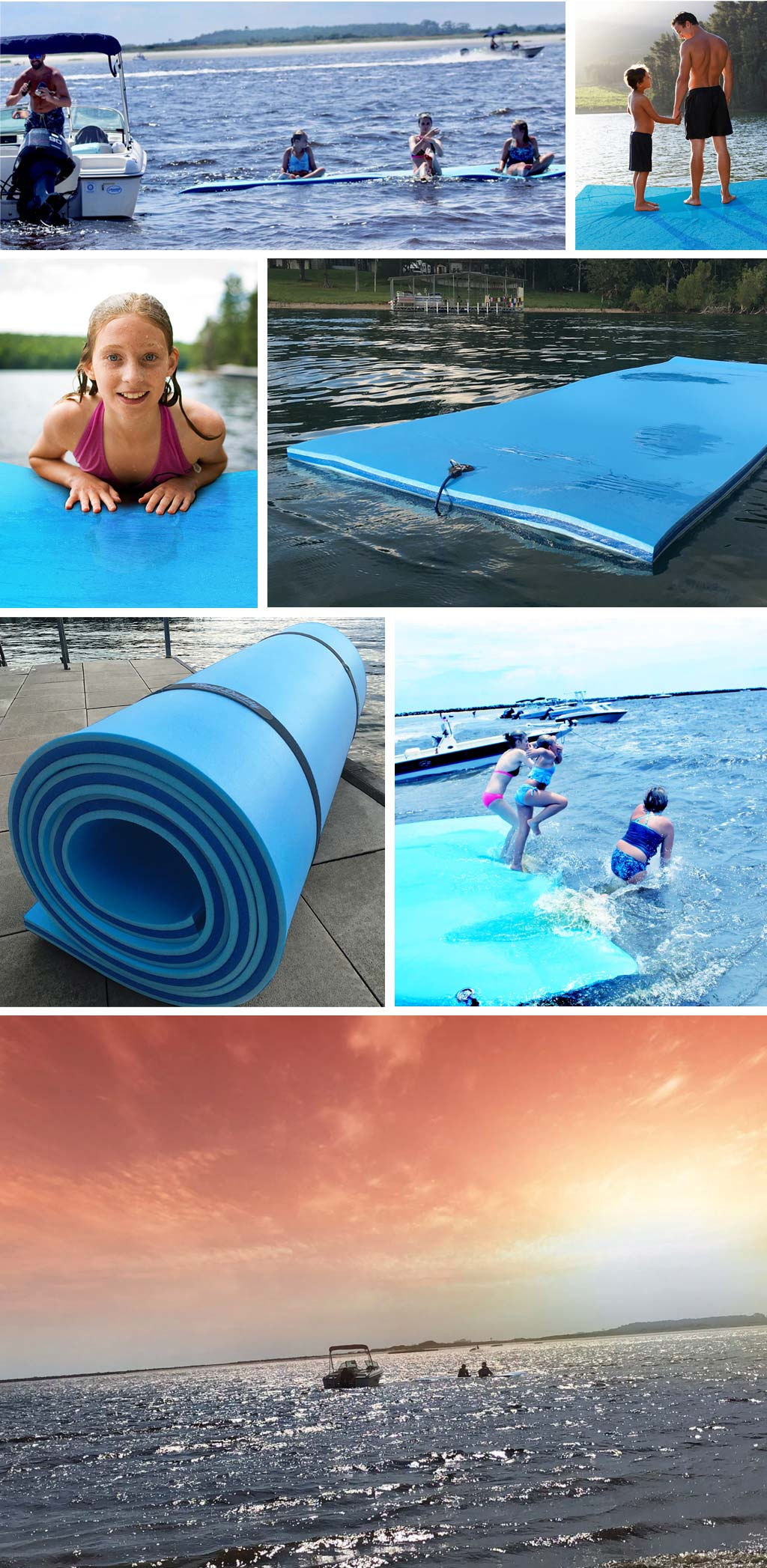 FloatDaddy 3-Ply Foam Lake Mat