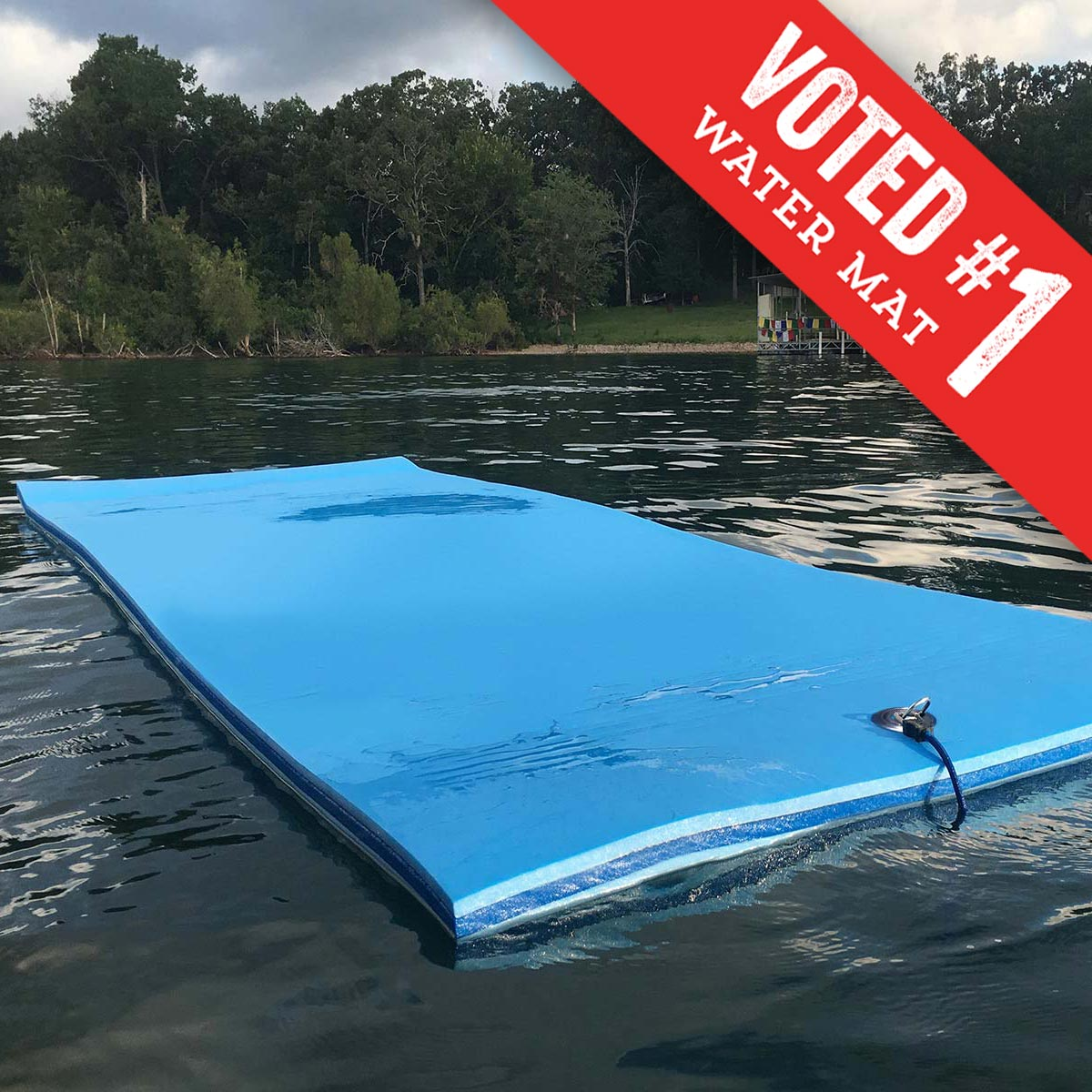3 Ply Foam Lake Float | FloatDaddy Super Island | 16 Foot | Voted best water mat