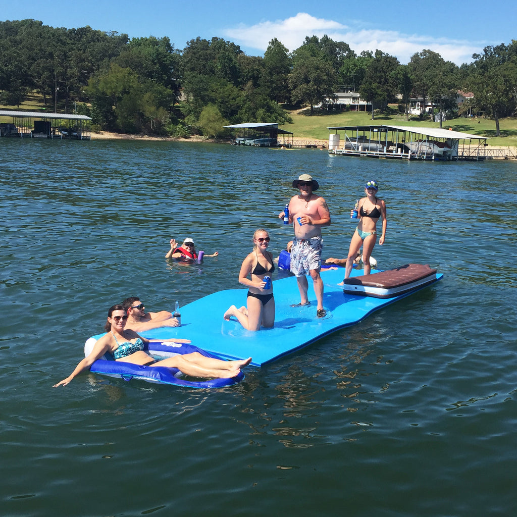 "Ultra-buoyant 3 Ply FloatDaddy Super Island 2"" Foam Lake Pad"