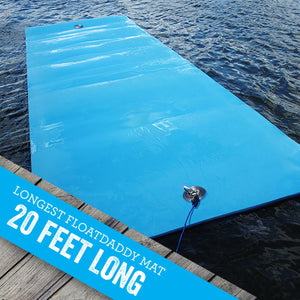 Our longest FloatDaddy lake mat 20 FEET I 3 Ply Foam Lake Float | FloatDaddy 20 Foot Lake Mat