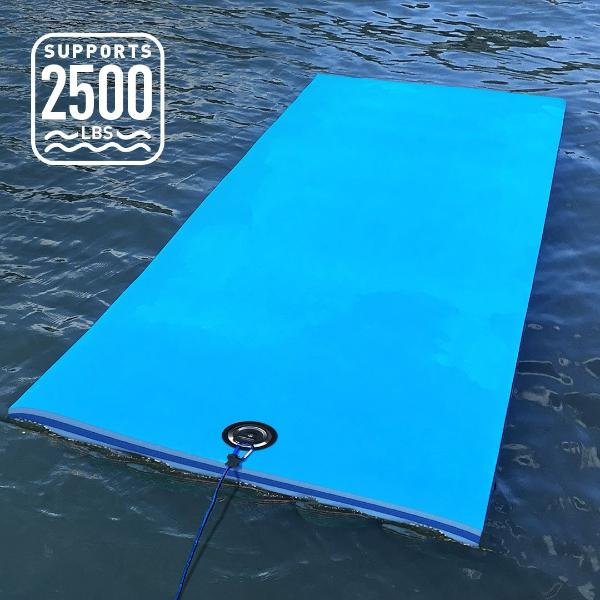 3 Ply Ultimate Foam Lake Float | FloatDaddy Super Island | Supports 2500lbs.