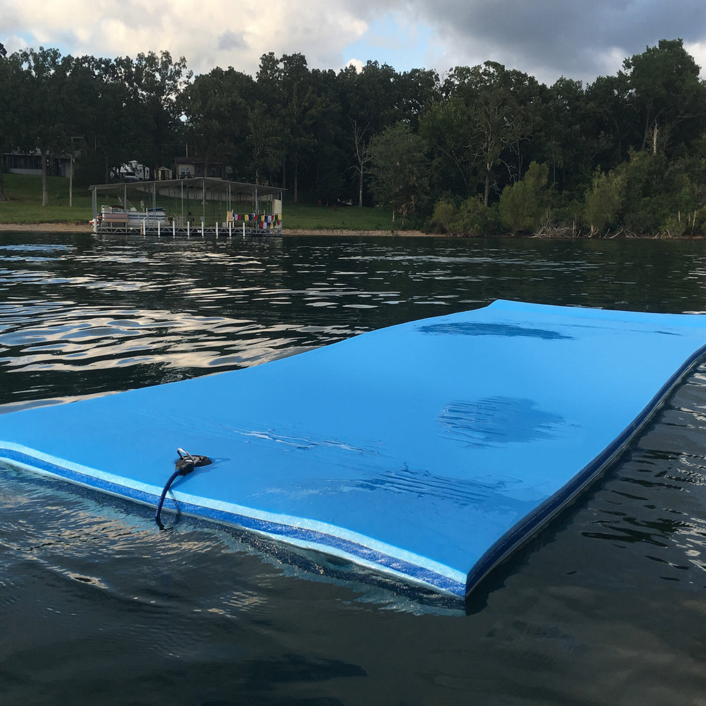 3 Ply Foam Lake Float | FloatDaddy Super Island | 16 Foot | Rated best floating water mat 2018