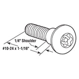 Six Lobe Shoulder Screws, 1-1/16 Inch, Stainless Steel