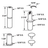 Hinge Repair Kit, Nylon, Round