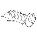 One-Way Sheet Metal Screw, 5/8 Inch, Chrome Plated