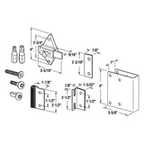 Latch Repair Kit, 1 Inch Square Edge Doors, Inswing