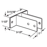 Urinal Screen Bracket for 1 Inch Panels, Stainless Steel