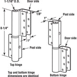 Wrap-Around Hinge Set, 1 Inch Thick Panels