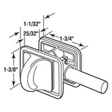Latch Assembly, Concealed, Chrome Plated