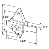 Slide Latch, 2-3/4 Inch H.C., Chrome Plated