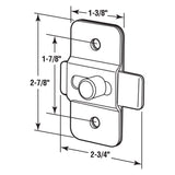 ADA Slide Latch, 1-7/8 Inch H.C., Stainless Steel