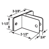 Wall Bracket for 3/4 Inch Panels, Stainless Steel