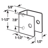 U Bracket for 1/2 Inch Panels, Stainless Steel