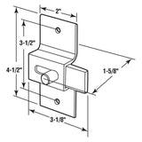 Slide Latch, Square End Straight Bolt, Aluminum