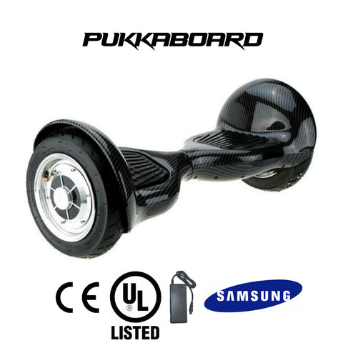 "10"" Urban PukkaBoard - Carbon Black - PukkaMate,  Safe Bluetooth Hoverboard, UL, CE Certified UK, Best Swegway Smart Balance"