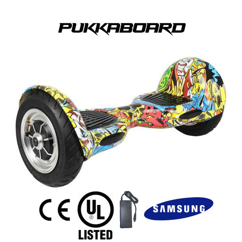 "10"" Urban PukkaBoard - Hip Hop Style - PukkaMate,  Safe Bluetooth Hoverboard, UL, CE Certified UK, Best Swegway Smart Balance"